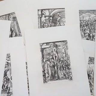 10 etchings by Édouard Lievre (1829-1886)