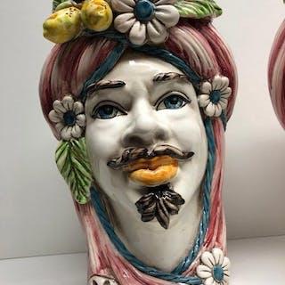 Caltagirone - Cache Pot, Ceramic object, Jar - Ceramic