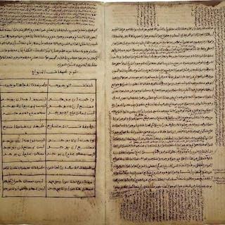 Papier oriental original- Manuscrit original arabe Le Kalām (arabe : كلام