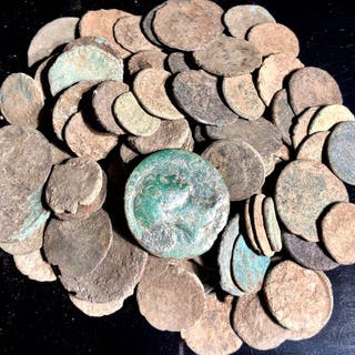 Römisches Reich - Large collection of 100 bronze coins