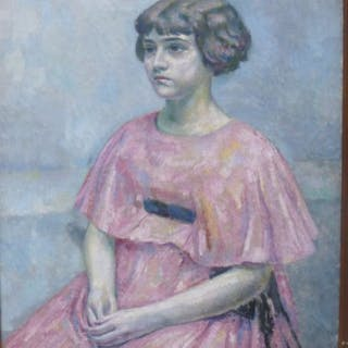 Augustin Carrera (1878-1952) - Portrait de jeune fille