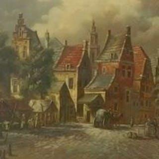 F J. Schreuder( 1942 -) - Oud Hollands stads gezicht