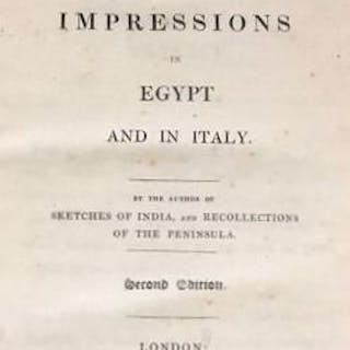 Joseph Moyle Sherer - Scenes and Impressions in Egypt and in Italy - 1825