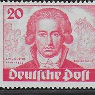 Berlin 1949 - Geburtstag J.W. von Goethe - Michel 61 / 63