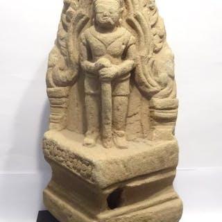 sculpture Khmer - Dvarapala gardien de temple  12°/13°...
