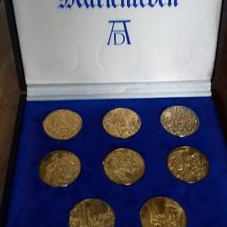 Deutschland - 8 Medaillen 1975 Das Marienleben nach Albrecht Dürer - Silber