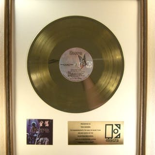 """Doors - """"Absolutely Live"""" LP Gold Record Award Presented..."""