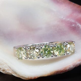 14 kt. White gold - Ring - 1.55 ct Diamond - No Reserve Price