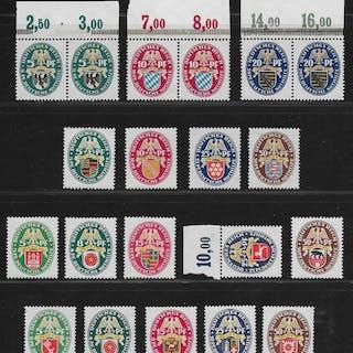 Deutsches Reich 1925/1929 - Nothilfe Wappen - Michel 375 / 377