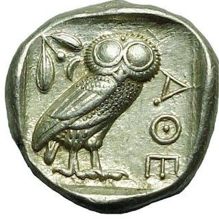 Greece (ancient) - Attica, Athens. AR Tetradrachm, 454-404 BC - Silver