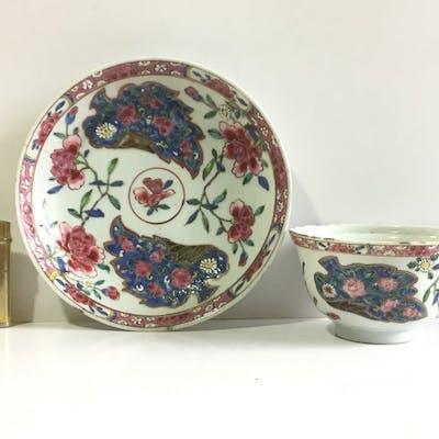 Ciotola per il riso con sottopiatto  - Porcellana - Cina - XVIII secolo
