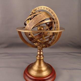 G. Gobille - Mappamondo con sfera armillare