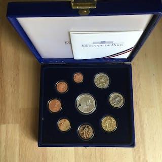France - Euro Coffret 2007, avec la 15€ argent - Silver