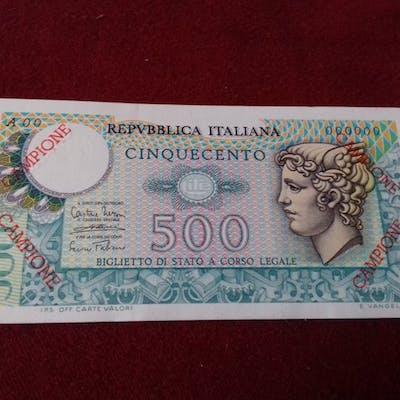 Italia - 500  Lire 1974-1979 - Mercurio - CAMPIONE - Gigante BS 26 - R5