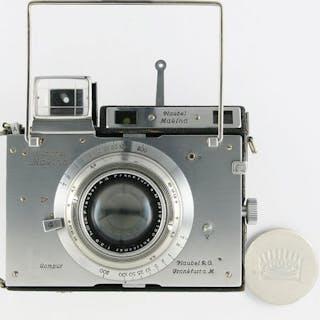 Plaubel Makina IIS Scherenkamera mit F 2.9 / 100mm Anticomar und viel Zubehör