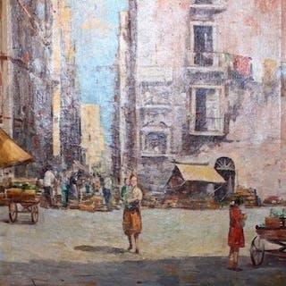 Pisani Gustavo (1877-?) - Scena di mercato