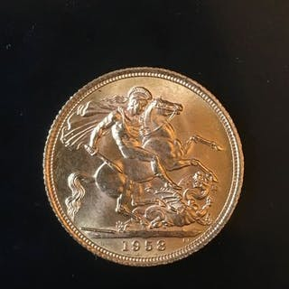 Gran Bretagna - Sovereign 1958 Eizabeth II  - Oro