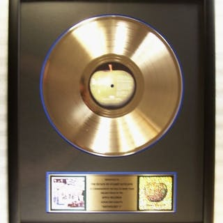 """Beatles - """"Anthology 1"""" LP Gold Record Award Presented To..."""