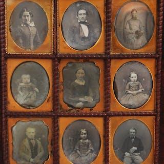 Onbekend - 9 x Amerikaan Portretten, c.1855