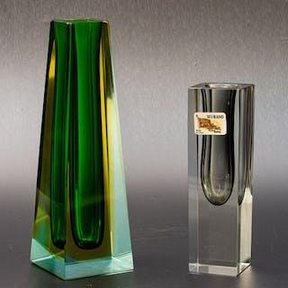 2 Sommerso Vasen - Höhe 22 & 16 cm - Glas