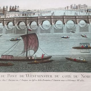 Balthazar Frederic Leizelt - Optical print - Vue du Pont...