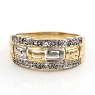 18 quilates Oro amarillo - Anillo Diamante