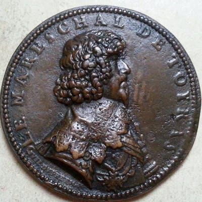 Francia - Mareschal de Toyras 1634 medaglia di Guillaume Dupré - Bronzo
