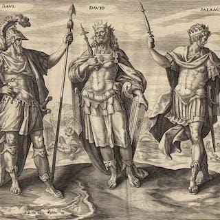 Maarten de Vos (1532-1603) - Saul, David und Salamon, drei Könige von Judäa
