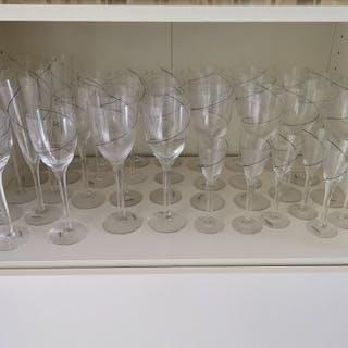 Anna Ehrner - Kosta Boda - Oggetto in vetro, Set di flauti e bicchieri (55)