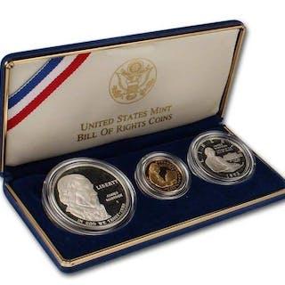 Stati Uniti - ½ Dollar 1993-S + Dollar 1993-S + 5 Dollars...