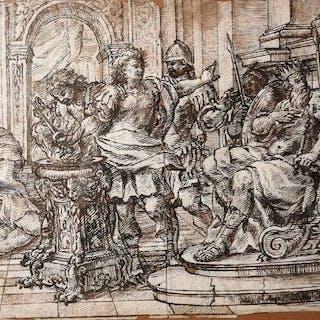 Scuola Italiana - Scena Mitologica Muzio Scevola