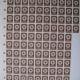 Impero tedesco - large collection of sheet parts, official stamps with swastikas