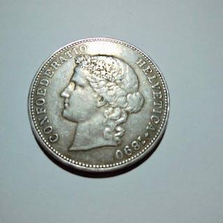 Schweiz - 5Francs 1890 B Bern - Silber
