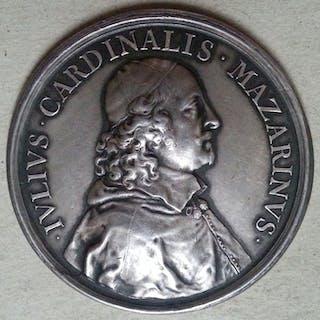 Italy - Medaglia Cardinale Mazzarino per l'Assedio di Casale 1630 - Silver