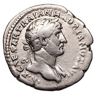Impero romano - AR Denar, Hadrian (117-138) Rom, Roma mit Victoria