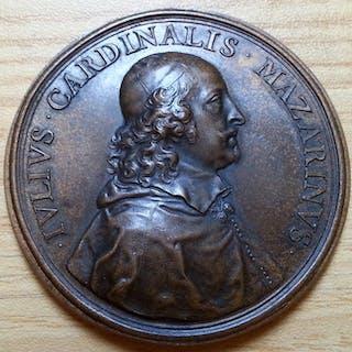 Italy - Medaglia Cardinale Mazzarino per l'Assedio di Casale 1630 - Bronze