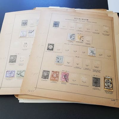 Paesi Bassi all'estero 1880/1975 - Batch on album pages and in envelopes