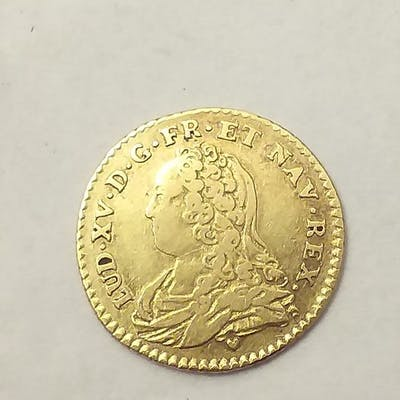France - Louis XV - 1/2 Louis d'or 1727-G (Poitiers) - Or