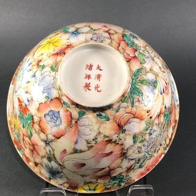 Bowl Porcelain Flowers Millefiori Floral Bowl Barnebys