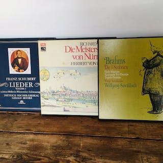 Lot of 3 classical vinyl Box Franz Schubert/Brahms/Richard Wagner..