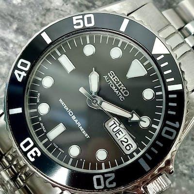 Seiko - Black Submariner - SKX023- 7s26-0050 - 682265 - Homme - 1990-1999