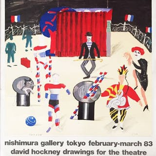 David Hockney - Drawing for the theatre - NIshimura Gallery Tokio- 1983