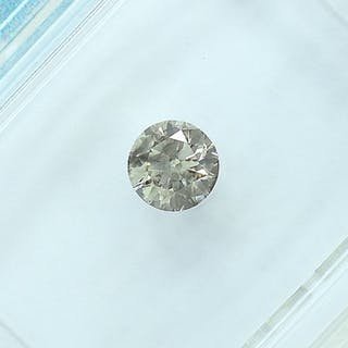 Diamond - 0.30 ct - Brilliant - Light brown - SI2