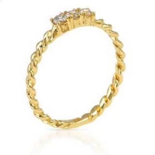 Foreli - 14 kt. Yellow gold - Ring - 0.48 ct Diamond