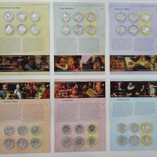 Die Niederlande - Complete collectie van 36 Zilveren Rembrandt penningen 2006