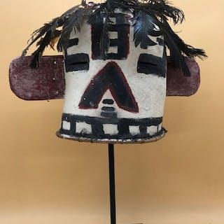 Masque de Divinité Kachina - Cuir - Hopi-style - Arizona, États-Unis