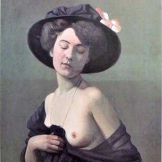 "Felix Vallotton - ""Woman in black hat"" - 100 masterpiece of the Hermitage - 1999"