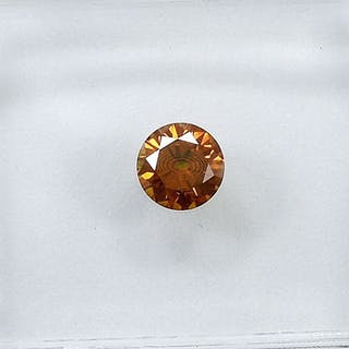 Diamond - 0.25 ct - Brilliant - Natural Fancy Intense Orange - SI1