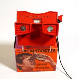 Model G Viewmaster viewer - commercieel model - compleet met schijf en koord