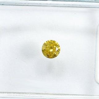 Diamond - 0.13 ct - Brilliant - Natural Fancy Intense...